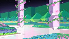 Inspirational Backgrounds, New Backgrounds, Steven Universe Background, Drawing Scenery, Steven Universe Drawing, Beach Town, Drawing Tips, Fanart, Wallpaper