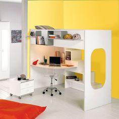 lit sur lev combin castello coloris rable blanc code article 493426 412 acheter. Black Bedroom Furniture Sets. Home Design Ideas