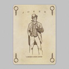 #Joker featured in Sherlock Holmes #playingcards.