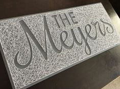 String Art Name Board Negative Space EXTRA LARGE Board
