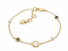 Missoma 18Ct Gold Vermeil & Rainbow Moonstone Cosmic Bracelet