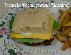Bread Machine Focaccia Bread: So easy and delicious! From Marty's Musings