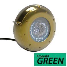 Bluefin LED Hammerhead H20 Surface Mount Underwater LED Light - 9000 Lumens - Emerald Green