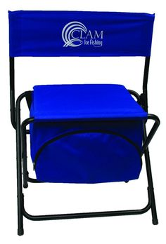Clam 8823 Folding Chair with Cooler Storage Compartment, Blue >>> To view further for this item, visit the image link.