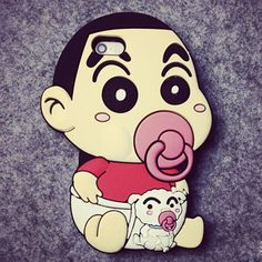 Amazon.com: LEMONSKY 3D Cute Cartoon Pacifier Silicone Rubber Case Cover for iPhone 6 4.7 Inch (Crayon Shin-chan): Cell Phones & Accessories