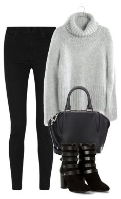 """Untitled #2954"" by charline-cote ❤ liked on Polyvore featuring Sandro, Madewell, Alexander Wang and MANGO"