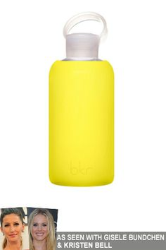 Christmas Gift Ideas: bkr Glass Water Bottle in Canary