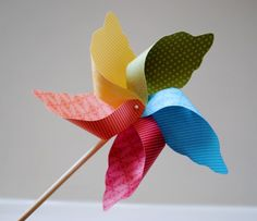I like pinwheels. They make a perfect birthday treat at school.