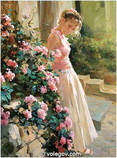 ROSES, peinture,