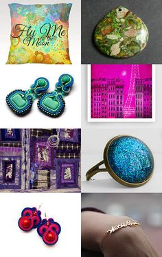 Fly me to the Moon .....and Back to Paris  by Carley Marston on Etsy--Pinned with TreasuryPin.com