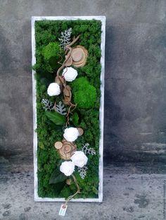Moss Wall Art, Moss Art, Plant Wall, Plant Decor, Cadre Diy, Moss Decor, Vertical Garden Design, Succulent Wall, Diy Planters