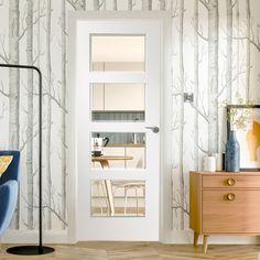 Interior Modern Door Bedroom Design for Home Minimalist White Interior Doors, Interior Door Styles, Interior Modern, Interior Design, Internal Doors Modern, Room Divider Doors, Room Dividers, Fire Doors, Aluminium Doors