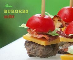 Mini Burgers on a Stick (low carb and hilarious looking!)