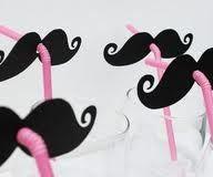 Moustache straws!