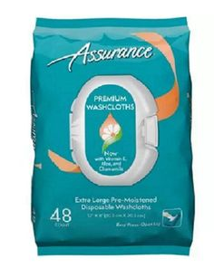 Disposable Washcloth Pre Moistened Wipes Towelettes Soft Adult Personal Care 48c #Assurance