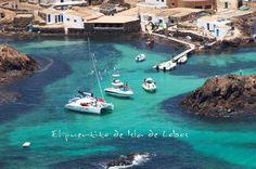 El puertito de Isla de Lobos, #Fuerteventura desde el aire