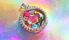 Redneck Girl Floating Charm Locket Set - Deer, Country Rebel Flag, Girly Bling Bow, Rose, Butterfly Charms - Custom and Exclusive Design by RepliKitty for Glass Window Moving Memory Lockets - Fit Origami Owl, South Hill and More!  Follow on twitter  and instagram - @Repli Kitty