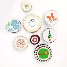 They are decorative edible icing sheets. Like stickers, you peel and press them on your frosting. Fun, huh? From Ticings.com
