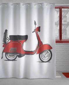 241-Moto Curtains, Bathroom, Prints, Shower Curtains, Home, Colors, Washroom, Bath Room, Bathrooms