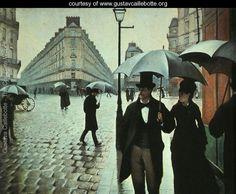 Paris Street- Rainy Weather 1877 - Gustave Caillebotte - www.gustavcaillebotte.org