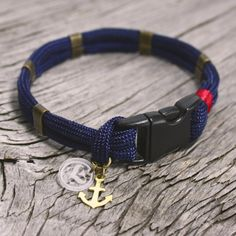 The Merrimac Marine Style Paracord Bracelet With Small Br Anchor By Maris Sal