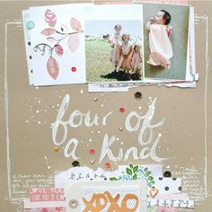 Four of a Kind layout created by Ashli for the Simon Says stamp Monday challenge (it's in the family) August 2014 Scrapbooking Layouts, Scrapbook Cards, Fun Crafts, Paper Crafts, Album Design, Studio Calico, Art Journal Inspiration, Scrapbooks, Projects To Try