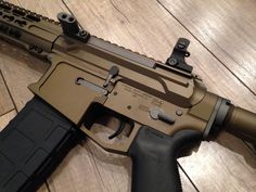 Cerakote AR-15 by BuellRider. Burnt Bronze with Tungsten Grey controls/details. http://www.ar15.com/archive/topic.html?b=8&f=65&t=563334