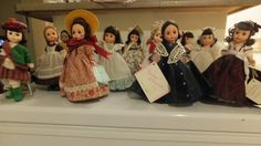 My Madame Alexander Collection-   My Dolls are:  World-  India 1980  Hungary 1981  Scotland 1986  Betsy Ross 1987  Gone with the Wind-  Scarlet Picnic 1994  Mrs O'hara 1992  Poor Scarlet 1998  Ashley's Farewell 1996  Little Women-  Jo and Beth 1986  Jo Goes to New York 1995  Snow White Winter 1990