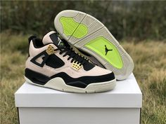 895a71ca4debe 2019 Womens Air Jordan 4 Silt Red Black-Phantom-Volt UK AQ9129-601