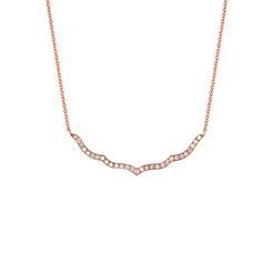 TAJ Necklace || 18k GOLD WHITE DIAMOND TAJ LARGE OUTLINE NECKLACE ON 18″ CHAIN || GOLD: 9.0 g TDW: 0.81 ct || #SaraWeinstockJewelry #SWGem