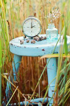 Turquoise stool...love