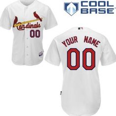 Youth St. Louis Cardinals Customized White Jersey