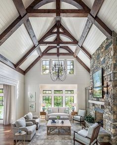 "best interior design ideas with farmhouse style 53 > Fieltro.Net""> 53 Best Interior Design Ideas With Farmhouse Style Home Living Room, Living Room Designs, Lake House Family Room, Cottage Living, Room Additions, Best Interior Design, Interior Design Farmhouse, Interior Photo, Modern Farmhouse"