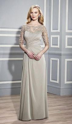 Gorgeous mother of bride dress with beading!
