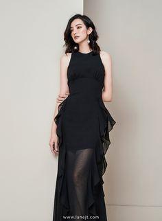 Ruffle Dress, Ruffles, Peplum Dress, Korean Dress, Korean Outfits, Gaun Dress, Smart Dress, Girl Fashion, Fashion Design