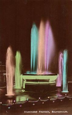 vintage Bournemouth illuminated fountain