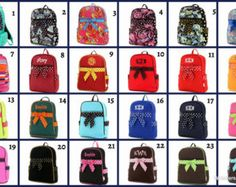 Monogrammed Quilted Bow Backpacks https://www.etsy.com/listing/239384050/monogrammed-quilted-full-size-backpack