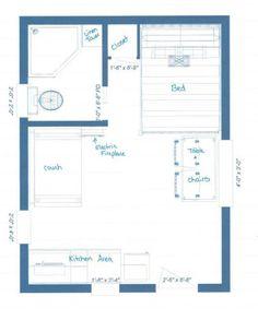 Cabin Floor Plan Tiny Guest HouseGuest
