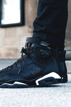 AJ6 'Black Cat' (via kicksdailynz) · Shoes SneakersMen's ShoesBlack ...