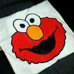 T shirt handmade :) Elmo i love you!! Sesame street