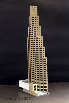Standard Chartered Bank Building (1990) in Hong Kong by P & T Architects & Engineers. / LEGO model by Jared Chan. / More info at http://en.wikipedia.org/wiki/Standard_Chartered_Bank_Building