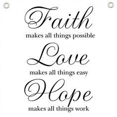Faith - Love - Hope