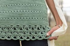 This lace crochet edging is stunning! Filigree Shell Detail