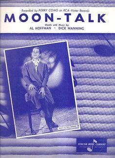 Sheet Music 1958 Moon Talk Perry Como 197