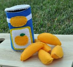 Etsy Transaction - Felt Food Canned Peaches 6 Piece Interactive Set