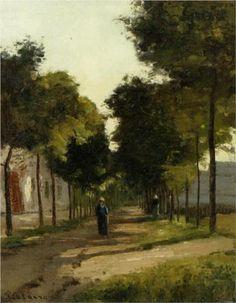 The road - Camille Pissarro