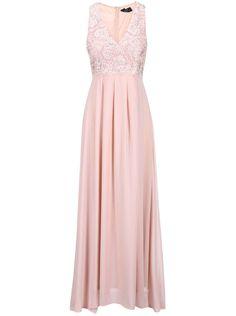 Pudrově růžové maxišaty s vyšívaným topem AX Paris Bridesmaid Dresses, Prom Dresses, Formal Dresses, Wedding Dresses, Perm, Fashion, Knee Length Dresses, Ruffles Bridesmaid Dresses, Tea Length Formal Dresses