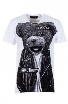 Dom Rebel - Bear White T-Shirt (BEARMT)