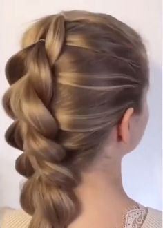 Beautiful and easy hairstyle idea for a bride, bridesmaids or wedding guests to try. Find more hair inspiration on the link. // hair videos Stunning Wedding Hairstyles Ideas to Choose From Easy Hairstyles For Long Hair, Braids For Long Hair, Hairstyle Ideas, Black Hairstyle, Ethnic Hairstyles, Simple Hairstyle Video, Braided Hairstyles Medium Hair, Easy Elegant Hairstyles, Easy Hair Braids