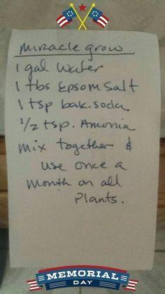 Gardening — Homemade Miracle Grow #LandscapingGarden